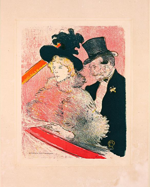 Henri de Toulouse-Lautrec Au Concert (Before Letters) 1896 Color Lithography, 32x25,2 cm © Herakleidon Museum, Athens Greece
