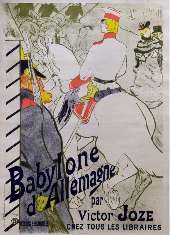 Henri de Toulouse-Lautrec Babylone d'Allemagne 1884 Color Lithography, 120x84,5 cm © Herakleidon Museum, Athens Greece