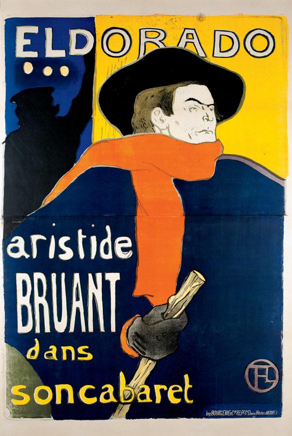Henri de Toulouse-Lautrec Eldorado, A. Bruant dans son Cabaret 1892 Color Lithography, 138x96 cm © Herakleidon Museum, Athens Greece