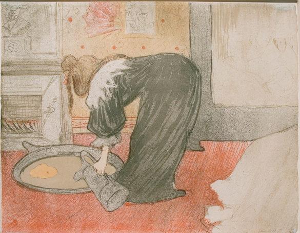 Henri de Toulouse-Lautrec Femme au Tub, Elles 1896 Lithography (#18/100), 40x52,5 cm © Herakleidon Museum, Athens Greece
