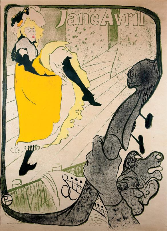 Henri de Toulouse-Lautrec Jane Avril (Before Letters) 1893 Color Lithography, 124x91,5 cm © Herakleidon Museum, Athens Greece