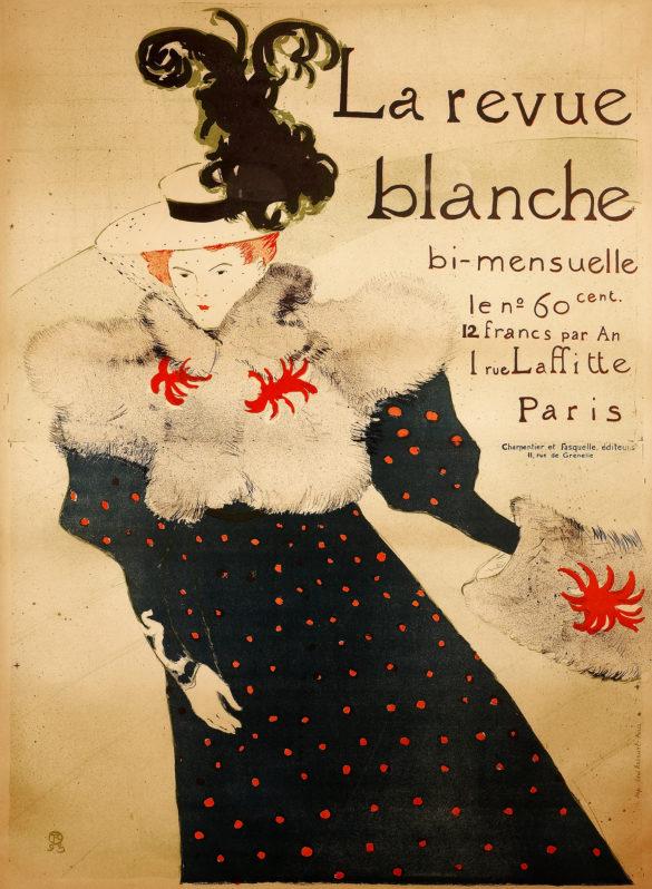 Henri de Toulouse-Lautrec La Revue Blanche 1895 Color Lithography, 125,5x91,2 cm © Herakleidon Museum, Athens Greece