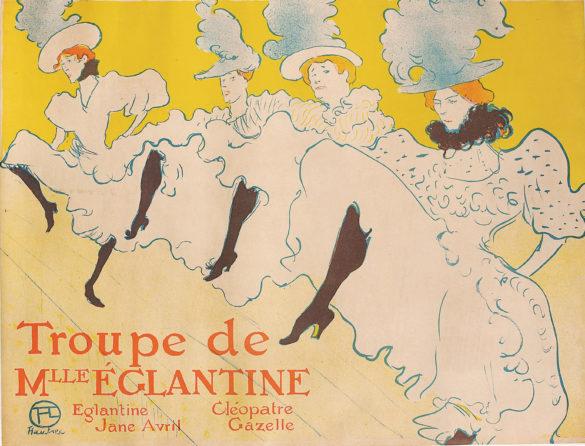 Henri de Toulouse-Lautrec La Troupe de Mademoiselle Églantine 1896 Color Lithography, 61,7x80,4 cm © Herakleidon Museum, Athens Greece