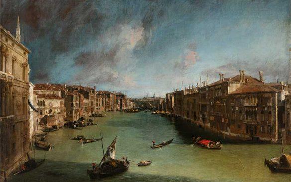 Canaletto, Canal Grande Balbi Rialto