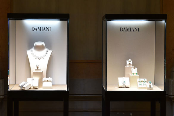 Displays of Damiani jewels at Hotel Monaco & Grand Canal