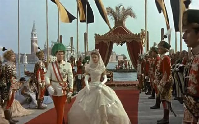 A scene from the famous movie 'Sissi', by Ernst Marischka, starring Romy Schneider as Sissi