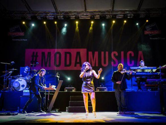 Giusy Ferrero on stage - 2016- #ModaMusica music festival at Noventa di Piave Designer Outlet