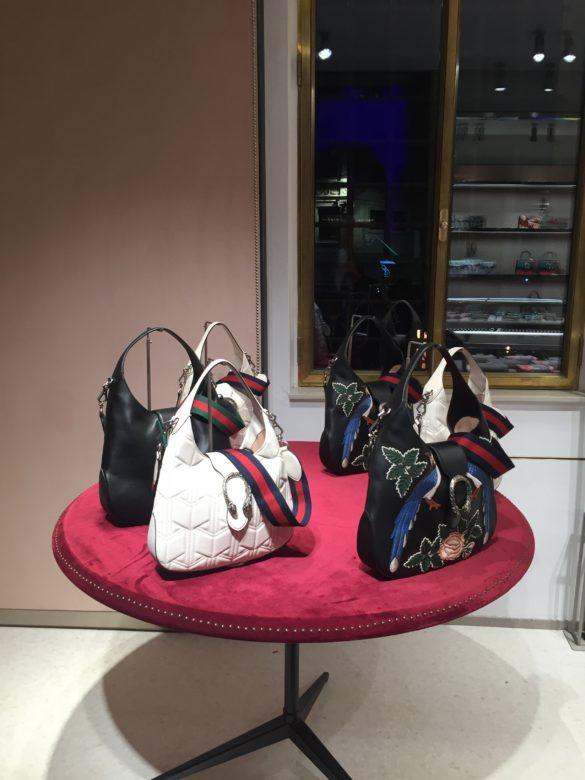 Gucci bags at T Fondaco dei Tedeschi
