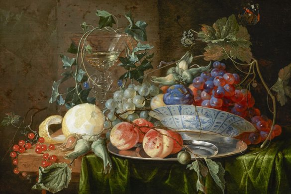 JAN DAVIDSZ DE HEEM, STILL LIFE WITH FRUITS, PRIVATE COLLECTION | COURTESY MUSÉE NATIONAL D'HISTOIRE ET D'ART LUXEMBOURG © PHOTO: MNHA | TOM LUCAS