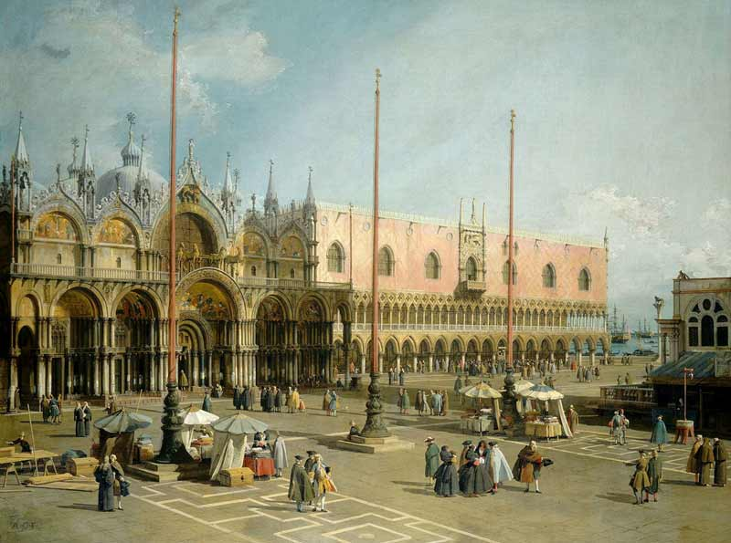 Painting: Canaletto's 'Piazza San Marco, kept at the National Gallery of Art Washington