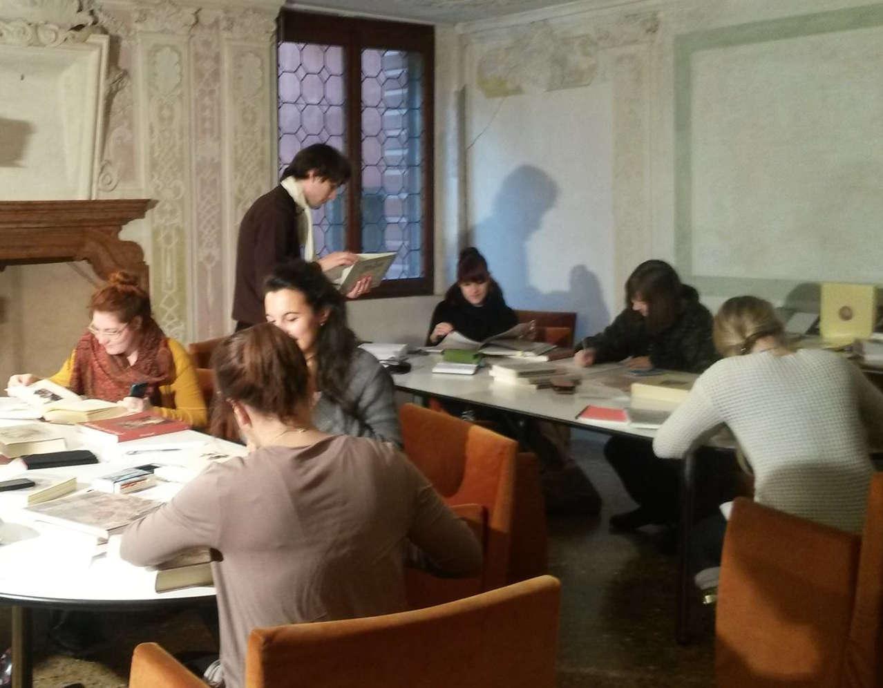 Library: the reading room at Palazzo Mocenigo