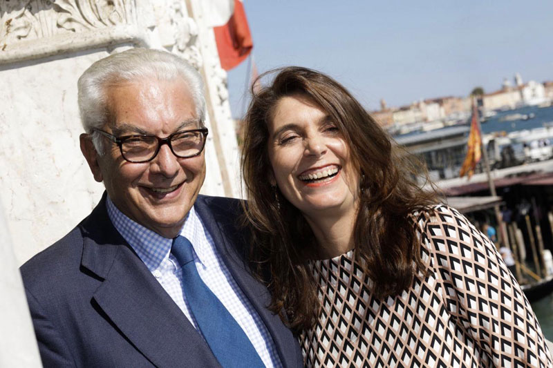 Paolo Baratta e Christine Macel, photo Jacopo Salvi, courtesy La Biennale di Venezia