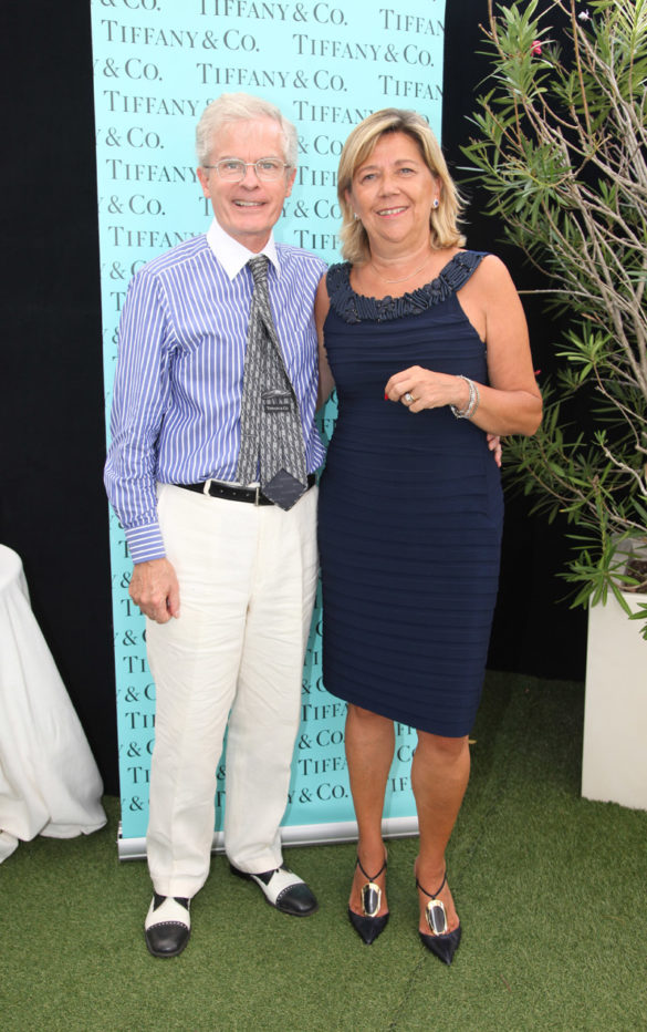 Raffaella Banchero, Ad Tiffany & Co. Italy and Spain with Philip Rylands, director of Peggy Guggenheim during Exclusive breakfast by Tiffany & Co. at Peggy Guggenheim