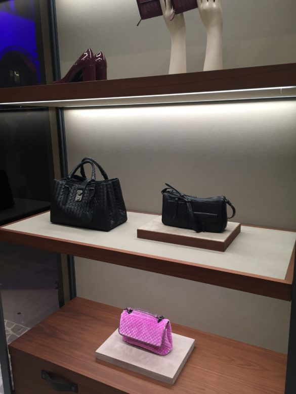 Bags by Bottega Veneta at T Fondaco dei Tedeschi