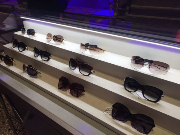 Sunglasses showcase (various brands) at T Fondaco dei Tedeschi