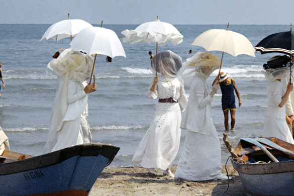 One of the most memorable scene from 'Death in Venice' (1971), the cinematographic masterpiece directed by Luchino Visconti. All rights reserved (c) Mario Tursi - Archivio Storico del Cinema