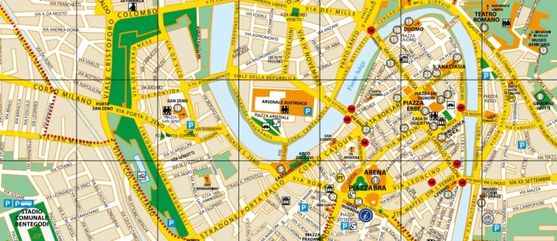 Verona-free-city-map-Verone-carte-stadtplan-Venedig-维罗纳全图