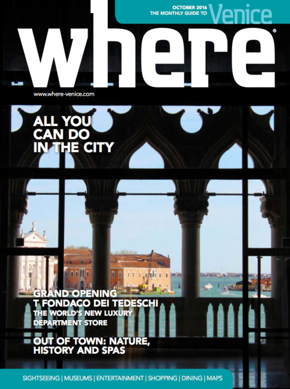 Where Venice Cover October 2016
