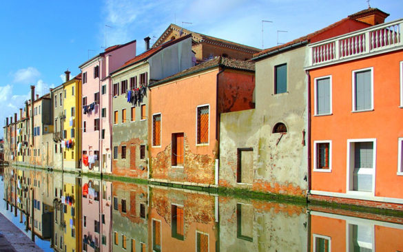 Typical houses in Chioggia