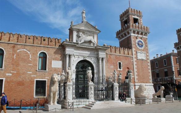 Venice's Arsenale in Sestiere Castello credits Svida