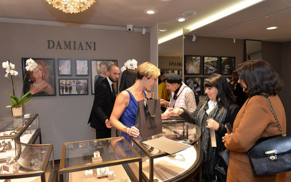 A view of the new boutique Damiani in Venice