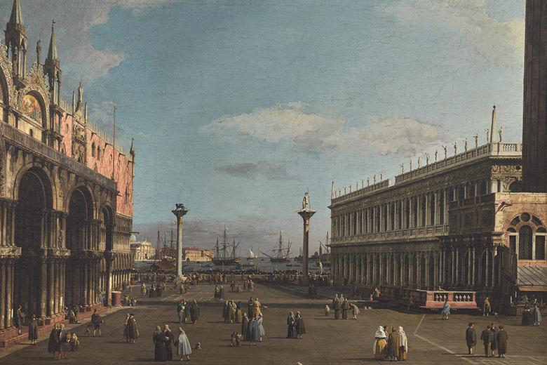 Antonio Canal (known as Canaletto) Piazzetta San Marco con la Loggetta e la Libreria, 1730-1740 Roma, Gallerie Nazionali d'Arte Antica
