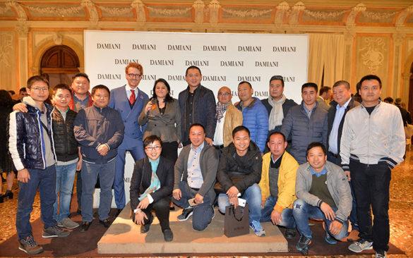 Guests at Damiani inauguration