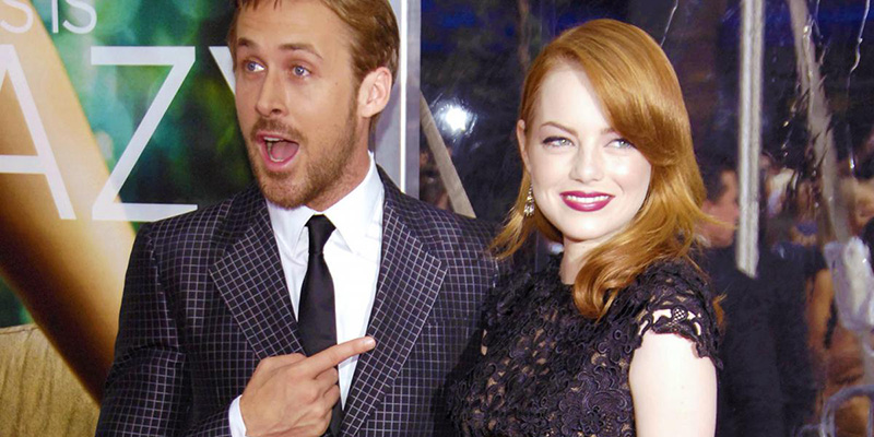 Emma Stone and Ryan Gosling in 2016