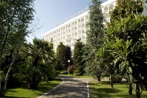The Facade of Abano Grand Hotel