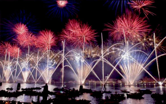 Fireworks for the Redeemer's Feast