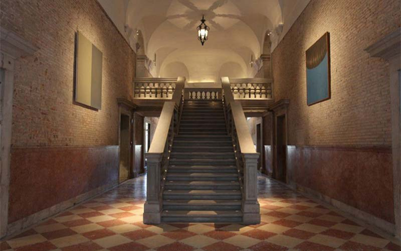 The hall to Fondazione Prada, photo credits courtesy Fondazione Prada