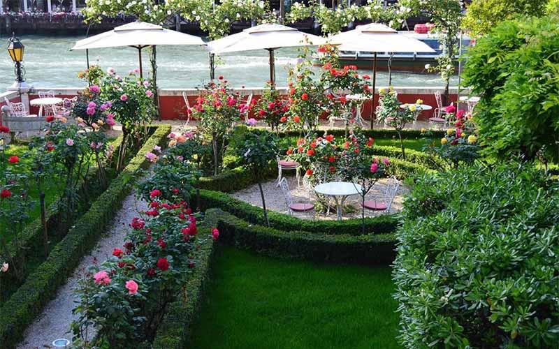 The garden of Ca' Nigra Lagoon Resort