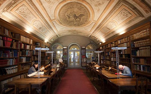 Monumental hall at Biblioteca Nazionale Marciana