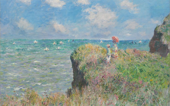 Walk Over the Cliff of Pourville Monet