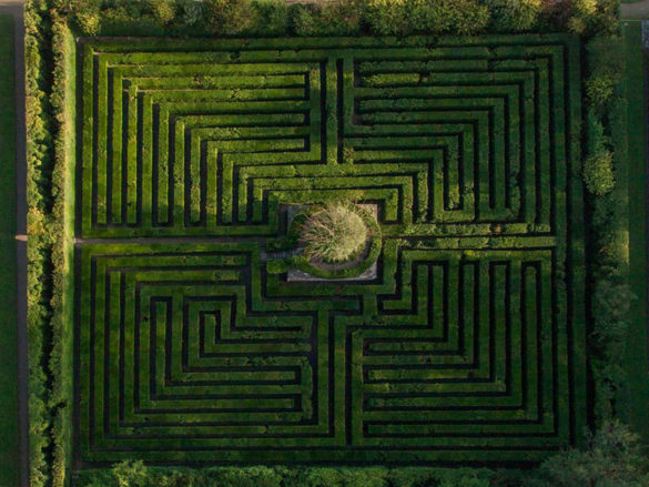 The labyrinth within the Valsanzibio garden