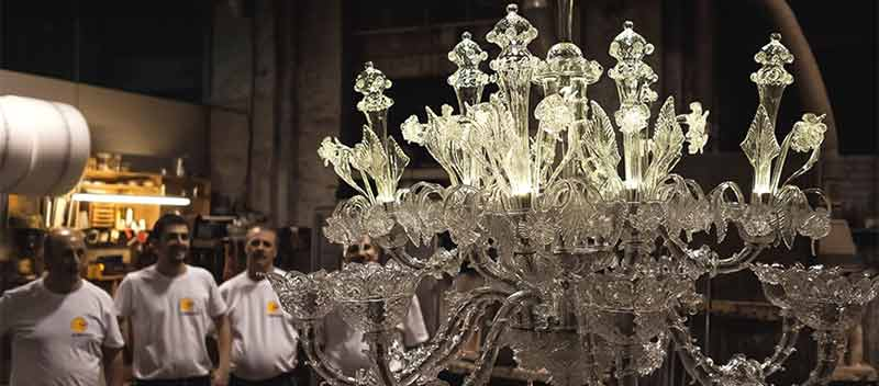 A Murano Glass lamp