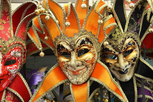 Masks at Venice Carnival