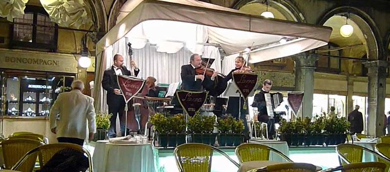 Orchestra at Caffé Lavena