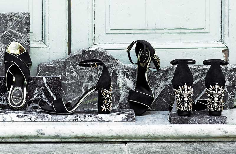 Exclusive jewel shoes by René Caovilla
