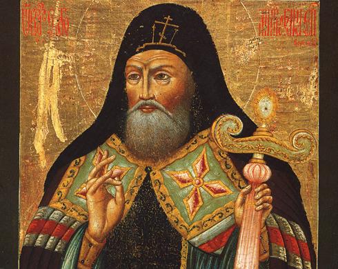 Detail of Mitrofan of Voronezh, 19th c.