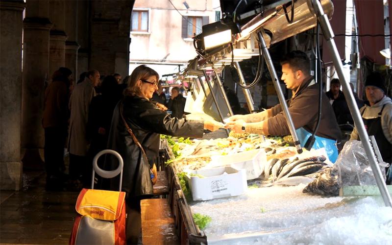 Shopping at Rialto Market