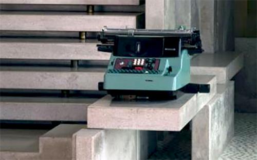 A Olivetti typewriter