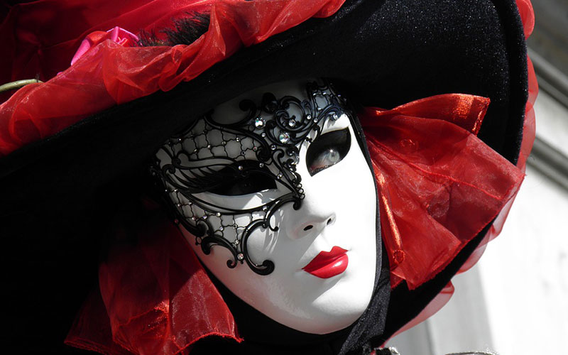 A mask at Venice Carnival