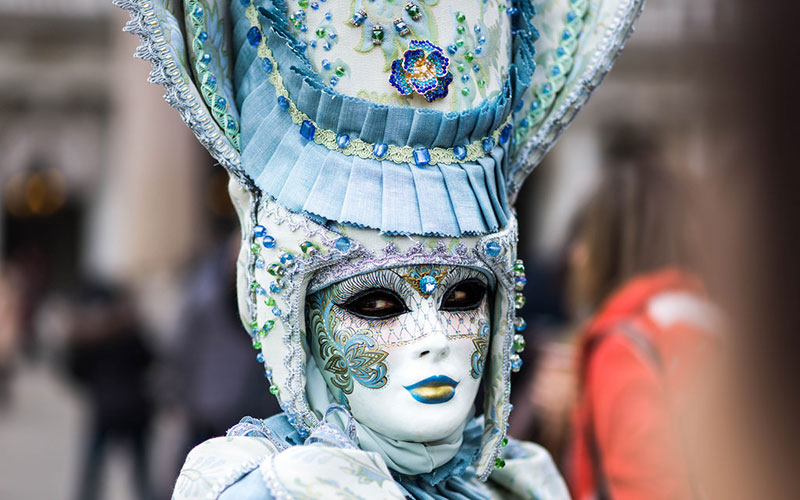 A mask at Venice Carnival