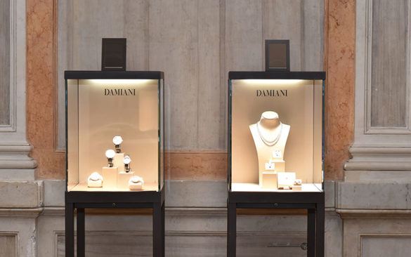 Window Displays of Damiani Jewels